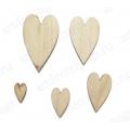 "Декоративные элементы, фигурки из фанеры ""Сердечки"", 5 шт, Woodbox"