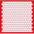 Трафарет объемный 19х19см PR0139 Квадраты, толщина 0,5 мм