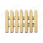 Заготовка забор миниатюрный, фанера, 7х8,7 см, Россия