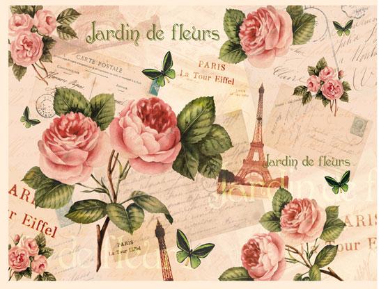 Карта calambour dge 19 париж розы 35х50 см
