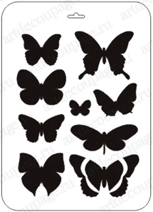 Трафарет для декора стен своими руками бабочки