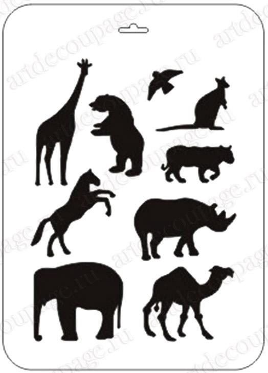 Трафареты для декора своими руками шаблоны животных