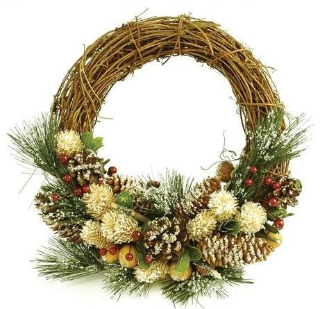 Рождественские венки из лозы своими руками