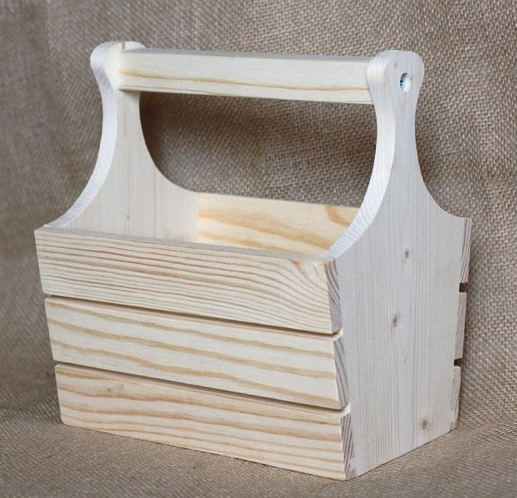 Заготовка для декупажа деревянная коробка для кухни из сосны