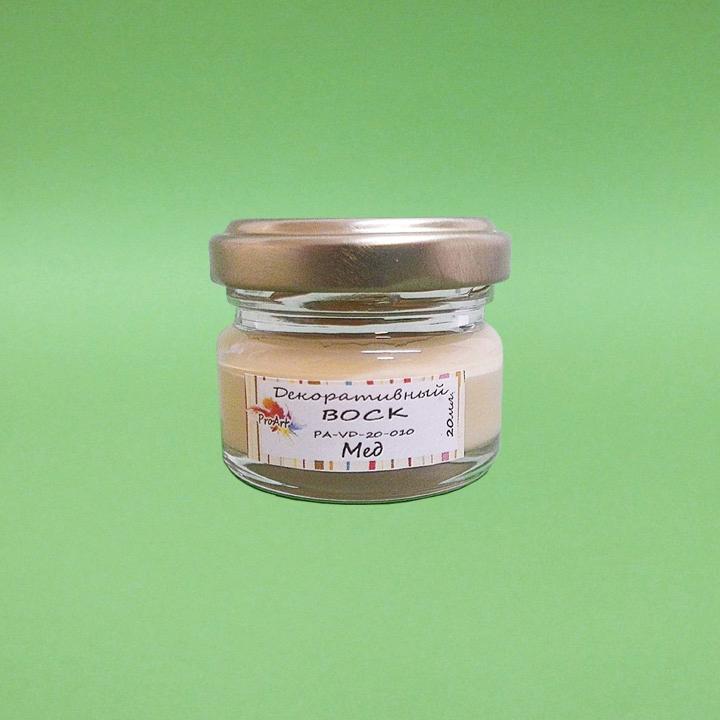Натуральный воск для финишной отделки Мёд, 25 мл, Италия