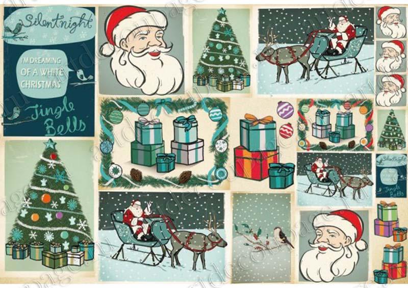 Декупаж к новогодней бумаге