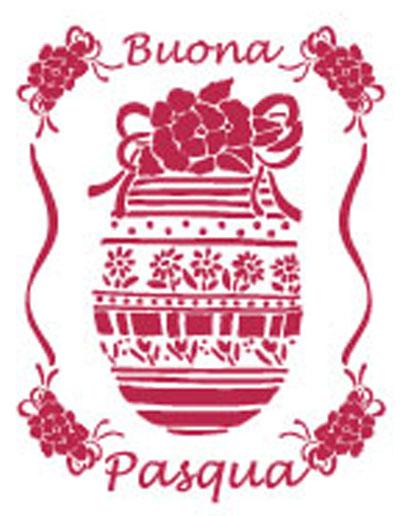 рафарет для декупажа Пасхальное яйцо, декоративные трафареты Stamperia