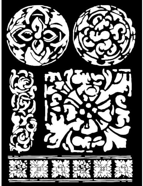 Объемный трафарет для декупажа Текстура майолики Stamperia KSTD027