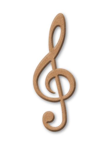 Как сделать скрипичный ключ из картона