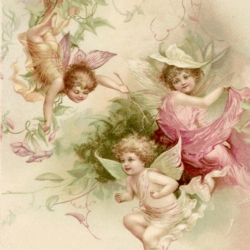 Салфетки декупажные с ангелами, купидонами, амурами