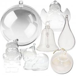 Новогодние заготовки из пластика и стекла
