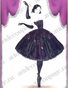 "Бумага для 3D декупажа, ""Балерина"" 23х30 см, 300 г/м2, Stamperia"