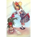 "Бумага для 3D декупажа ""Девочка с куклой, винтаж"" 12х20 см, 300 г/м2, Stamperia"