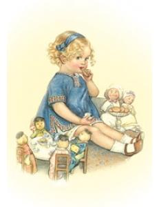 "Бумага для 3D декупажа ""Девочка с куклами"" 12х20 см, 300 г/м2, Stamperia"