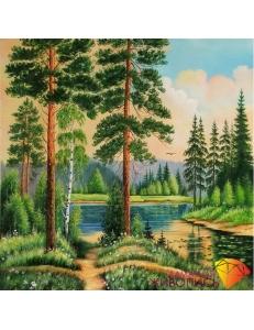 Картина стразами набор Тихая заводь - 40х40 см