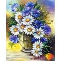 Картина стразами набор Ромашки с васильками - 40х50 см