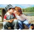 Картина стразами набор Поцелуй - 40х30 см
