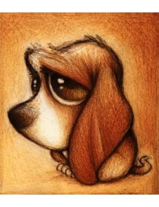 Картина стразами набор Хмурый пес - 25х30 см