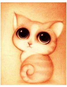 Картина стразами набор Милый котенок - 25х30 см