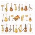 """Салфетка для декупажа """"Оркестр"""", 33х33 см, Голландия"""