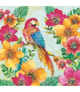 """Салфетка для декупажа """"Тропический попугай"""", 33х33 см, Голландия"""