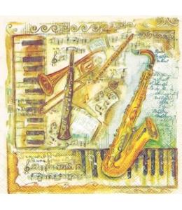 """Салфетка для декупажа """"Музыкальные инструменты"""", 33х33 см, Голландия"""