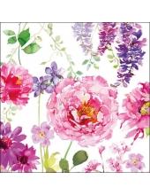 """Салфетка для декупажа """"Розовое цветение"""", 33х33 см, Голландия"""
