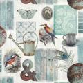 "Салфетка для декупажа ""Коллаж с птицами"", 33х33 см, Голландия"