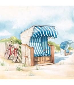 """Салфетка для декупажа """"День на пляже"""", 33х33 см, Голландия"""