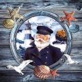 "Салфетка для декупажа ""Капитан корабля"", 33х33 см, Голландия"