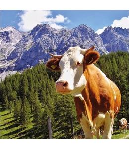 "Салфетка для декупажа ""Альпийский бык"", 33х33 см, Голландия"