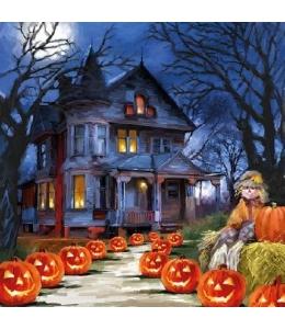 """Салфетка для декупажа """"Призрачный дом, Хеллоуин"""", 33х33 см, Голландия"""