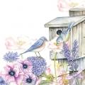 """Салфетка для декупажа """"Птицы в скворечнике"""", 33х33 см, Голландия"""