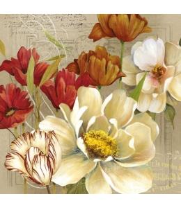 "Салфетка для декупажа ""Тюльпаны"", 33х33 см, Голландия"