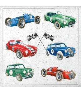 """Салфетка для декупажа """"Старые гоночные автомобили"""", 33х33 см, Голландия"""