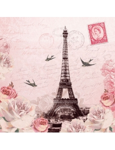 "Салфетка для декупажа ""Письмо из Парижа"", 33х33 см, Голландия"