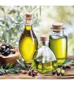 """Салфетка для декупажа """"Оливки и оливковое масло"""", 33х33 см, Голландия"""