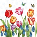 "Салфетка для декупажа ""Тюльпаны и мускари"", 33х33 см, Голландия"