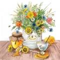 """Салфетка для декупажа """"Цветы и мед"""", 33х33 см, Голландия"""