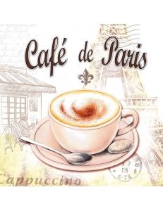 """Салфетка для декупажа """"Cafe de Paris"""", 33х33 см, Голландия"""