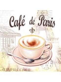 Салфетка для декупажа Cafe de Paris, 33х33 см, Голландия