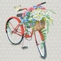 """Салфетка для декупажа """"Велосипед с корзиной цветов"""", 33х33 см, Голландия"""