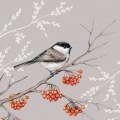 "Салфетка для декупажа ""Птица на ветке"", 33х33 см, Ambiente (Голландия)"