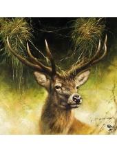 """Салфетка для декупажа """"Гордый олень"""", 33х33 см, Голландия"""