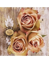 """Салфетка для декупажа """"Розы на деревянных досках"""", 33х33 см, Голландия"""