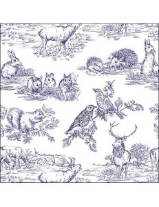 """Салфетка для декупажа """"Лесные животные"""", 33х33 см, Голландия"""