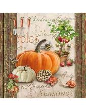 """Салфетка для декупажа """"Осеннее садоводство"""", 33х33 см, Голландия"""