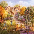 """Салфетка для декупажа """"Работа в саду"""", 33х33 см, Голландия"""