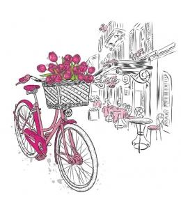 """Салфетка для декупажа """"Доставка тюльпанов"""", 33х33 см, Голландия"""