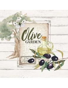 "Салфетка для декупажа ""Оливковый сад"", 33х33 см, Голландия"